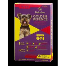 капли Palladium Golden Defence, для собак до 4кг, от блох и глистов, аналог Адвоката, йорки