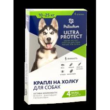 Капли на холку Palladium ULTRA PROTECT для собак от 10 до 25 кг от паразитов